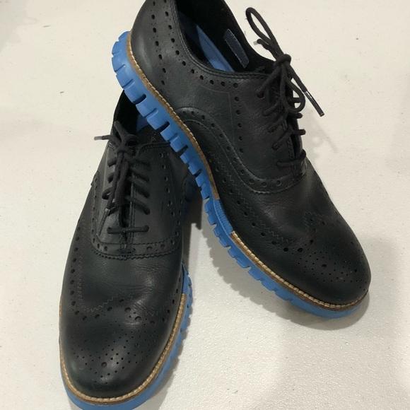Cole Haan Zerogrand Black Blue Oxfords